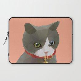 Kitten Polygon Art Laptop Sleeve