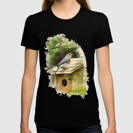 Watercolor Bluebird Art T-shirt