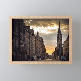 Royal Mile Sunrise in Edinburgh, Scotland Framed Mini Art Print