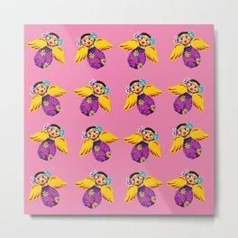 Mexican Angels Hot Pink Metal Print