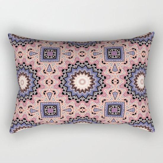 Pink blue ethnic pattern . Rectangular Pillow
