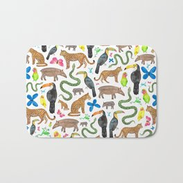 Jungle/Exotic Animals Bath Mat