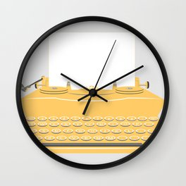 The Lonely Typewriter {mustard} Wall Clock