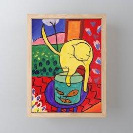 Cat with Red Fish- Henri Matisse Framed Mini Art Print