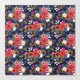 Bohemian Bouquets Floral Pattern Canvas Print