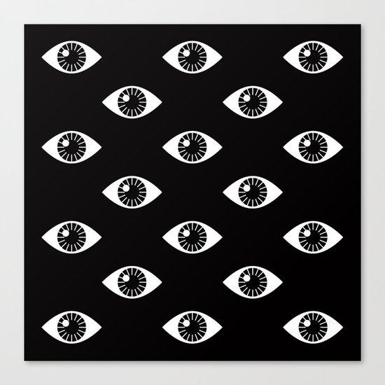 EYES WIDE OPEN ON BLACK Canvas Print