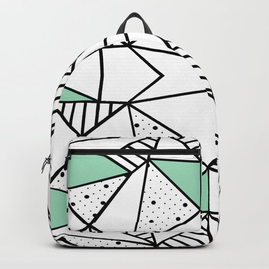 Ab Lines and Spots Mint Backpack