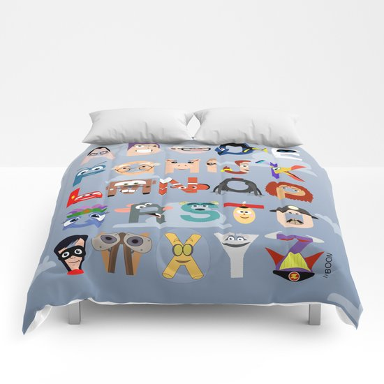 P is for Pixar (Pixar Alphabet) Comforters