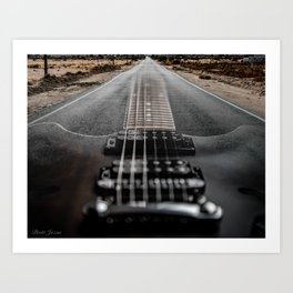 SEMI HOLLOW ROADTRIP Art Print