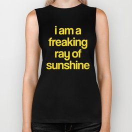 i am a freaking ray of sunshine (Sparkle Pattern) Biker Tank