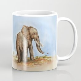 The Majestic African Elephant Coffee Mug