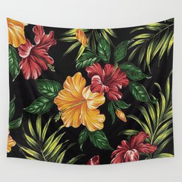 Nature Flowers Rose Wall Tapestry