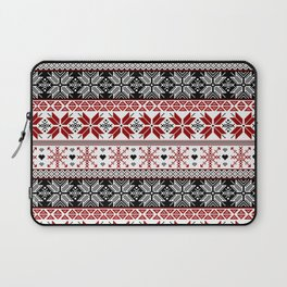 Winter Fair Isle Pattern Laptop Sleeve