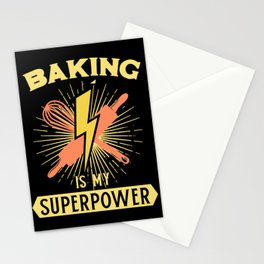 Baking Is My Superpower Stationery Cards