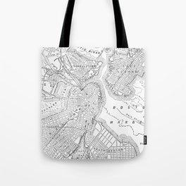 Vintage Map of Boston (1878) Tote Bag