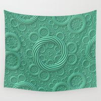 tree rings Wall Tapestries featuring Rings by Lyle Hatch