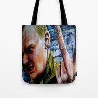 rebel Tote Bags featuring Rebel by Global Graphiti
