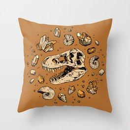 Geo-rex Vortex | Citrine Quartz Throw Pillow