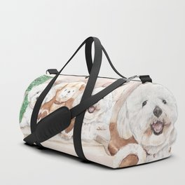Two Bichons and A Friend Duffle Bag