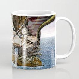 Steampunk Ocean Dragon Library Coffee Mug