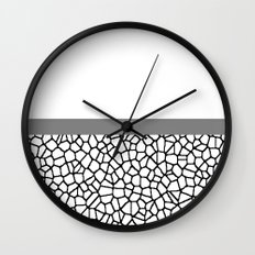 staklo (gray stripe) Wall Clock