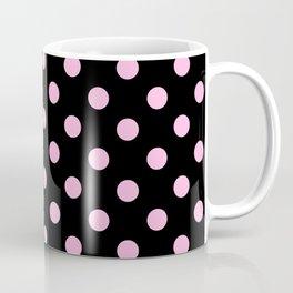 Polka Dots (Pink & Black Pattern) Coffee Mug