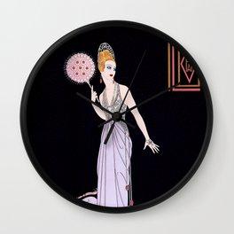 "Art Deco Illustration ""Fedora Fun"" by Erté Wall Clock"