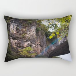 Looking up to the Natural Bridge, VA Rectangular Pillow
