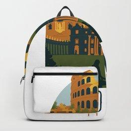 Rome Skyline Italy Backpack