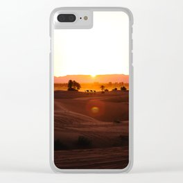 Camels in the Sahara Desert of Morocco Clear iPhone Case