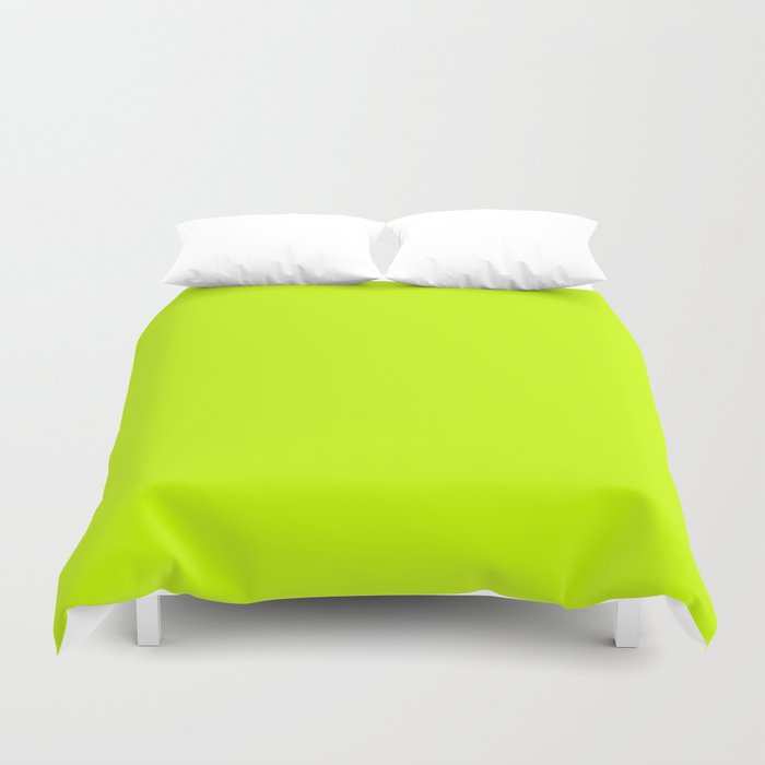 Bright green lime neon color Bettbezug