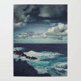 Wild Atlantic Ocean Madeira Poster