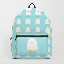 Halloween chick in ghost costume Backpack