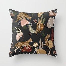 SERVAL SAVANNAH CAT Throw Pillow