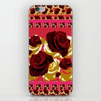 50s iPhone & iPod Skins featuring 50s Roses by Marmalademudpie and Me