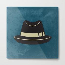Hat Print , hipster Metal Print