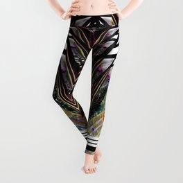 """Beez Lee Art : Love Leads Through Triangle Darkness"" Leggings"