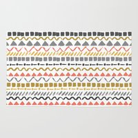 ethnic Area & Throw Rugs featuring Ethnic pattern by Julia Badeeva