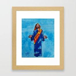 He is risen Framed Art Print