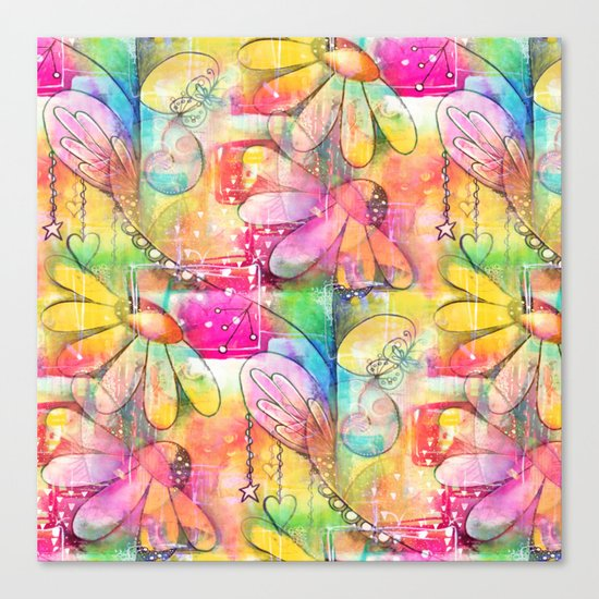 Flowers Dreams Canvas Print