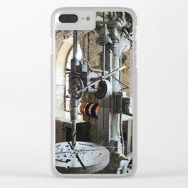 Heavy Industry - Drilling Machine Clear iPhone Case