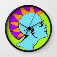 goddess Wall Clocks featuring Goddess by Helena Bowie Banshees