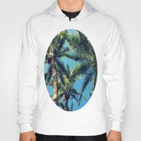 palm tree Hoodies featuring Palm Tree by Jillian Stanton