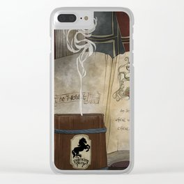 There and Back Clear iPhone Case