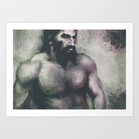 "dragon age inquisition Art Prints featuring Dragon Age Inquisition - Blackwall by Barbara ""Yuhime"" Wyrowińska"