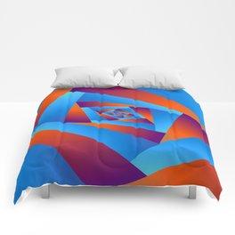 Orange and Blue Spiral Comforters