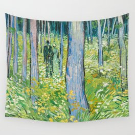 Undergrowth with Two Figures by Vincent van Gogh Wall Tapestry