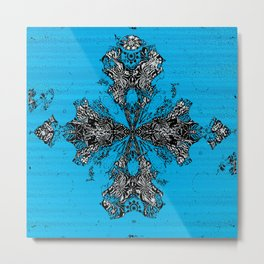 Black Ink Cross Embellismhent Metal Print