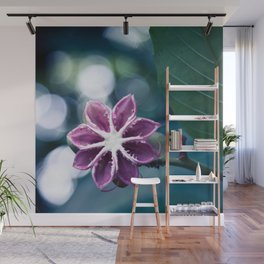 Single Little Purple Flower Wall Mural