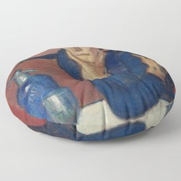 THE ABSINTHE DRINKER - PABLO PICASSO  Floor Pillow